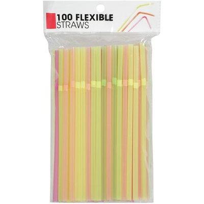 Flexible Neon Straws - 9 1/2
