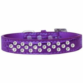 Sprinkles Clear Jewel Croc Dog Collar Purple Size 12