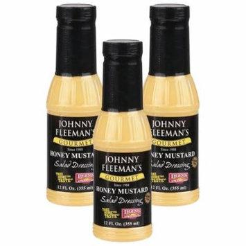 (3 Pack) Johnny Fleeman's Gourmet Honey Mustard Salad Dressing 12 fl. oz. Jar