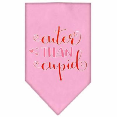 Cuter Than Cupid Screen Print Bandana Light Pink Small