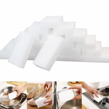Outtop 25Pcs White Magic Sponge Eraser Cleaning Melamine Foam Cleaner Kitchen Pad
