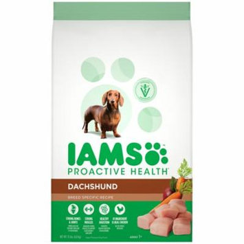 IAMS ProActive Health Adult Dachshund Dry Dog Food, Chicken Flavor, 15 Pound Bag