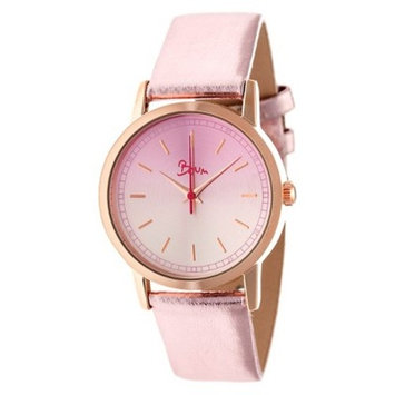 Women's Boum Ombre Watch with Genuine Leather Metallic Finish Strap