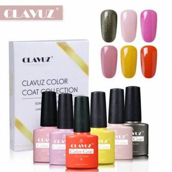 CLAVUZ 6pcs Bright Color Nail Care Manicure Gel Nail Polish Soak Off UV LED Long Lasting Varnish Elegant Manicure Gift Set S009