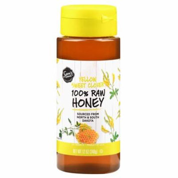 Sam's Choice 100% Raw Honey, Yellow Sweet Clover, 12 oz