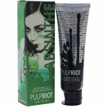 4 Pack - Pulp Riot Semi-Permanent Hair Color for Unisex, Absinthe Green 4 oz