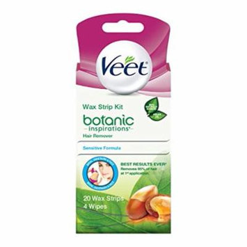 3-Pack Veet Ready-To-Use Wax Strip Hair Remover Kit Sensitive Formula 20 Ct each