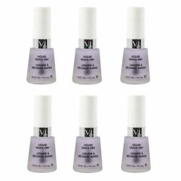 Revlon Liquid Quick Dry, 0.5 Ounce (6 Pack) + Makeup Blender Sponge