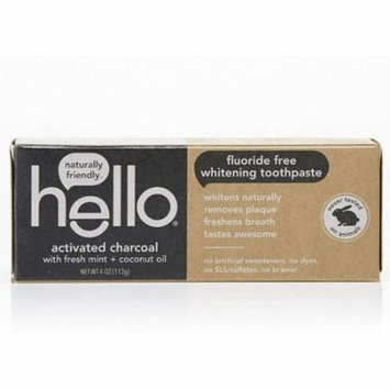 hello® activated charcoal fluoride free whitening toothpaste with fresh mint + coconut oil