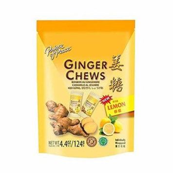 Prince of Peace® 100 Percent Natural Ginger Candy Chews Lemon