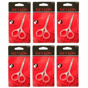 Revlon 37410 Cuticle Nail Scissors (Pack of 6) + Makeup Blender Sponge