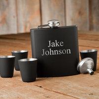 Personalized Flask & Shot Glass Gift Box Set