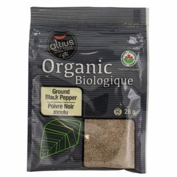 Altius Ground Black Pepper Organic Spice Collection, Used for Both Its Flavor and as a Medicine 0.99 oz x 1