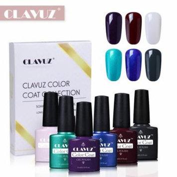 CLAVUZ 6pcs Bright Color Nail Care Manicure Gel Nail Polish Soak Off UV LED Long Lasting Varnish Elegant Manicure Gift Set S004