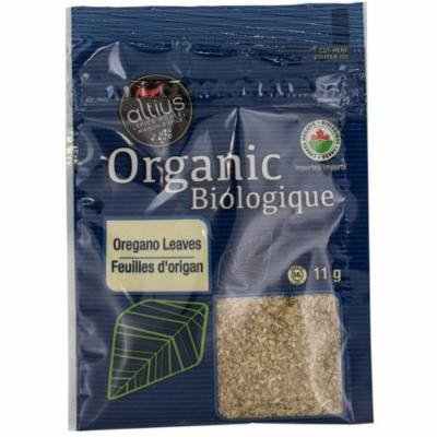 Altius Organic Oregano Leaves, for Extra Health Conscience Consumer, Widely Used in Italian and Greek Cuisine 0.39 oz x 1