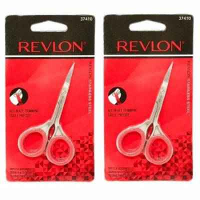 Revlon 37410 Cuticle Nail Scissors (Pack of 2) + Makeup Blender Sponge