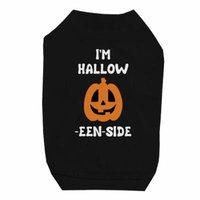 Hollow Inside Pumpkin Black Pet Shirt for Small Dogs