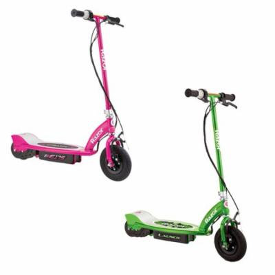 Razor Motorized Rechargeable Electric Powered Kids Scooters, 1 Pink & 1 Green