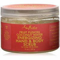 4 Pack - Shea Moisture Fruit Fusion Coconut Water Energizing Hand Body Scrub 12 oz