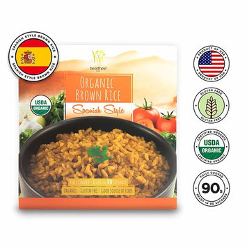 Healthee Organic Brown Rice, Gluten Free, Fully Cooked and Ready-to-Eat, USDA Certified Organic, GMO-Free, Microwaveable, 100% Whole Grain (Spanish Style, Pack of 4)