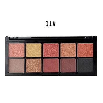 Memela Cosmetic Matte Eyeshadow Cream Makeup,Palette Shimmer Set 10 Colors Eyeshadow