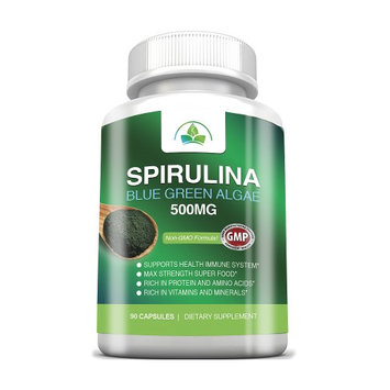 Totally Products Non-GMO Spirulina 500mg Maximum Strength with Blue Green Algea Super Food