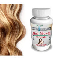 Grow Longer, Thicker Hair Products - by Planet Ayurveda - 100% Safe Herbal Hair Growth Pills for Fast Hair Growth Super Strength formula for...