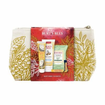 Burt's Bees® Favorites Holiday Gift Set, 5 Skin Care Products – Cleansing Towelettes, Foot Cream, Body Lotion, and Lip Balms
