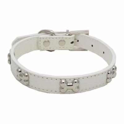Mosunx Exquisite Adjustable Buckle Metal Bone Dog Puppy Pet Collars