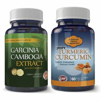 Totally Products Garcinia Cambogia 800mg and Turmeric Extract Combo Pack