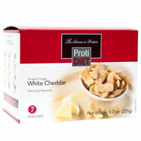 PROTIDIET - Protein Crisps - White Cheddar - Low Calorie - Low Carb - Gluten Free - 7/Box
