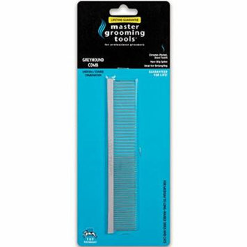 Master Grooming Tools Greyhound Combs - European-Style Combs for Grooming Dogs - Medium/Coarse, 7½