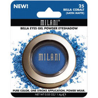 Milani Bella Eyes Gel Powder Eyeshadow, 25 Bella Cobalt Satin Matte, 0.05 oz