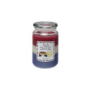 Candlelite 1481-236 22oz 3 Layer Jar Candle - Cherry Tart Lemon Vanilla Blackberry Cobbler - Case