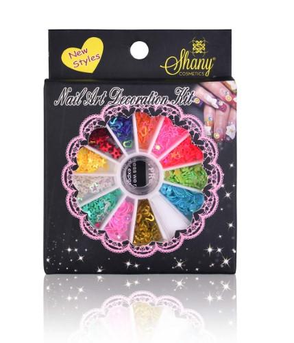 SHANY 3D DIY Neon Nail Decoration, Stars, Hearts & More - Nail Wheel - Set#2