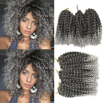 Flyteng marlibob crochet hair 6pieces/pack 8 inch Marlibob Kinky Curly synthetic Hair extensions