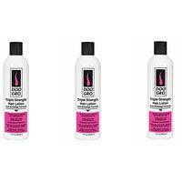 [VALUE PACK OF 3] DOO GRO TRIPLE STRENGTH HAIR LOTION Anti-Breakage Formula 12oz : Beauty