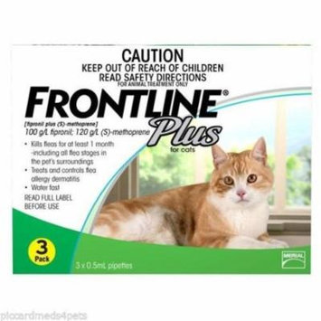 Frontline Plus Cats all sizes 3 Pack EPA 3 months NO expiration date