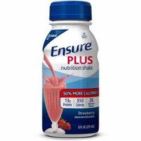 4 Pack - Ensure Plus Nutrition Shake, Strawberry 8 oz bottles (case of 24)