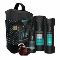 AXE 6-Pc Apollo Shower Gift Set with BONUS Trial Deo Body Spray (Body Spray, Body Wash, 2 in 1 Shampoo & Conditioner, Shower Bag, Pouf)