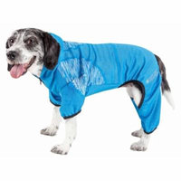 Pet Life ® Active 'Pawsterity' Heathered Performance 4-Way Stretch Two-Toned Full Bodied Hoodie