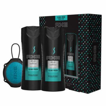 AXE 4-Pc Apollo Regimen Gift Set for Men with BONUS Trial Deo Body Spray (2 x Body Wash, Detailer)