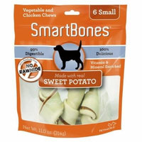 SmarBones - Sweet Potato Flavor Small - Dogs 11-25 Lbs (6 Pack) - Pack of 2