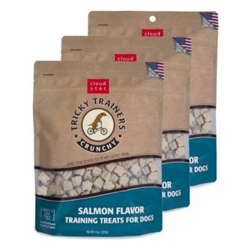 Cloud Star Chewy Tricky Trainers Salmon 8 oz Dog Treats 3 Pack