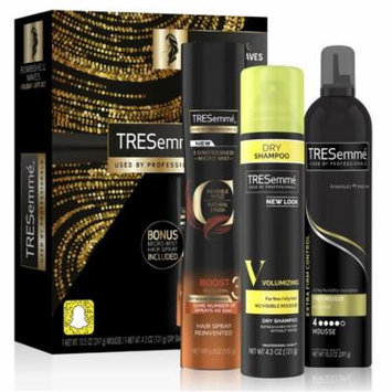 TRESemmé 3-Pc Gift Set Bombshell Waves (Mousse, Hair Spray, Dry Shampoo)