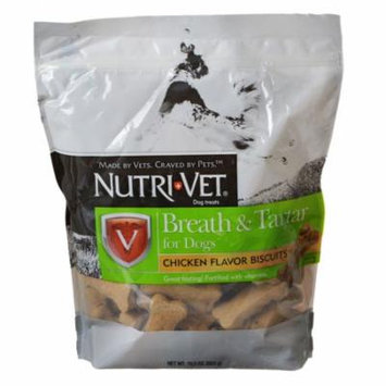 Nutri-Vet Breath & Tartar Biscuits 19.5 oz - Pack of 10