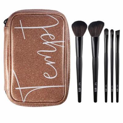 VT X BTS Get Ready Brush Kit 5pcs - Makeup Brushes Set with Case Bag for Powder Blending Shading Eye Shadow Liner