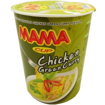 Mama Instant Cup Noodles Chicken Green Curry Flavour Thai Original Spicy Net Wt 60 g (2.11 Oz) x 2 cups