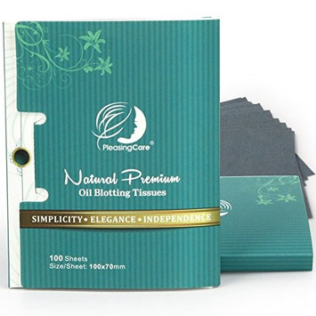 Premium Facial Oil Blotting Paper, 200 Counts - Natural Bamboo Charcoal Face Blotting Sheets, Easy Take Out Design - Top Handy Oil Absorbing Tissues - Oily Skin Care or Make Up Must Have! [Bamboo Charcoal - 2 Pack]