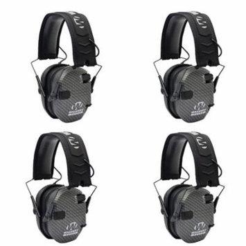 Walkers Razor Series Protection Slim Shooter Folding Earmuff, Carbon (4 Pack)